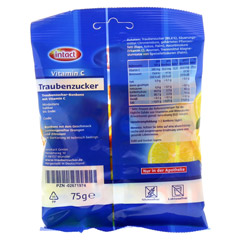 INTACT Traubenz. Vitamin C Tabletten 75 Gramm - Rückseite