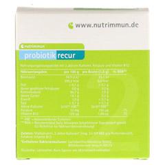 PROBIOTIK recur Pulver 10x1.5 Gramm - Rückseite