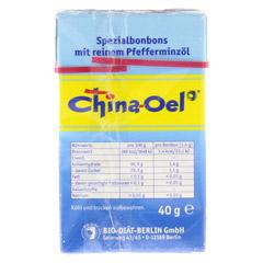CHINA ÖL Hals- u.Hustenbonbons 40 Gramm - Rückseite