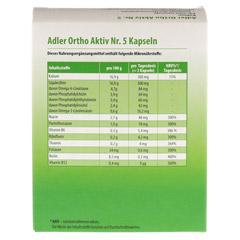 ADLER Ortho Aktiv Kapseln Nr.5 60 Stück - Rückseite