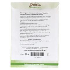 JACOBUS Schwedenbitter Tee 36 Gramm - Rückseite