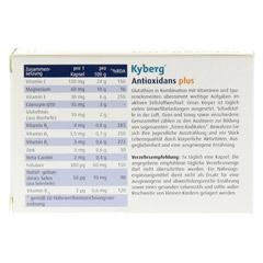 ANTIOXIDANS plus Kyberg Kapseln 30 Stück - Rückseite