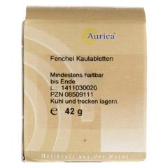 Fenchelkautabletten Aurica 170 Stück - Rückseite