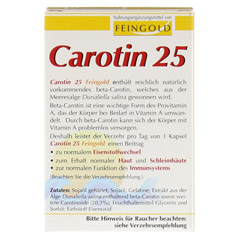 CAROTIN 25 Feingold Kapseln 40 Stück - Rückseite