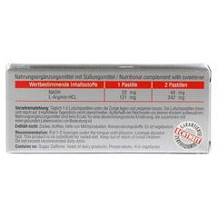 SX10 22 mg N.A.D.H.+ L-ARGININ Lutschtabletten 30 Stück - Rückseite