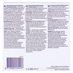 FORTIMEL Jucy Cassisgeschmack 4x200 Milliliter - Unterseite