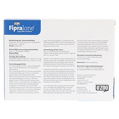 FIPRALONE 50 mg Lsg.z.Auftropf.f.Katzen 4 Stück - Rückseite