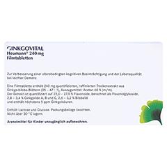 GINKGOVITAL Heumann 240mg 30 Stück N1 - Rückseite