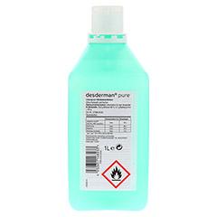 desderman pure Händedesinfektion 1 Liter - Rückseite