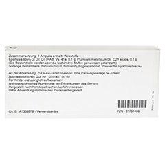 EPIPHYSIS/PLUMBUM Ampullen 10x1 Milliliter N1 - Rückseite