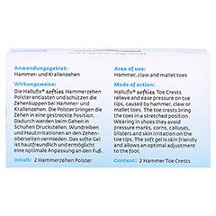 HALLUFIX softies Hammerzehenpolster Gr.M 36-41 2 Stück - Rückseite