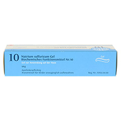BIOCHEMIE DHU 10 Natrium sulfuricum D 4 Gel 50 Gramm N1 - Oberseite