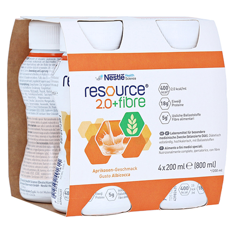 RESOURCE 2.0 fibre Aprikose 4x200 Milliliter