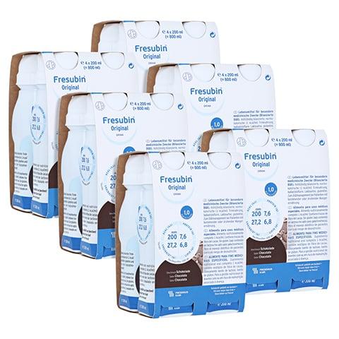 FRESUBIN ORIGINAL DRINK Schokolade Trinkflasche 6x4x200 Milliliter