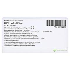 H&S Lindenblüten 20x1.8 Gramm - Unterseite