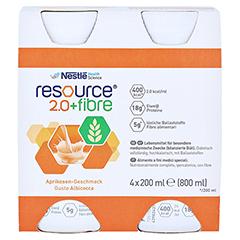 RESOURCE 2.0 fibre Aprikose 4x200 Milliliter - Vorderseite