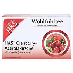 H&S Cranberry Acerolakirsche Filterbeutel 20 Stück - Vorderseite