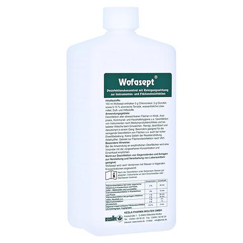 WOFASEPT Instrumenten- und Flächendesinfektion 1 Liter