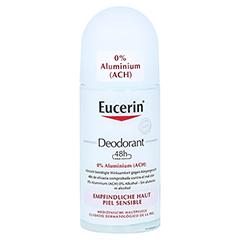 Eucerin Deodorant Roll On Empfindliche Haut 48h 0% Aluminium 50 Milliliter