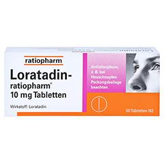 Loratadin-ratiopharm 10mg 50 Stück N2 - Vorderseite