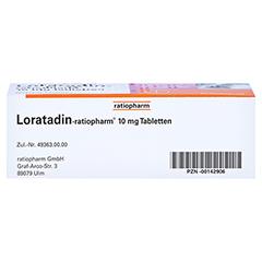 Loratadin-ratiopharm 10mg 50 Stück N2 - Unterseite
