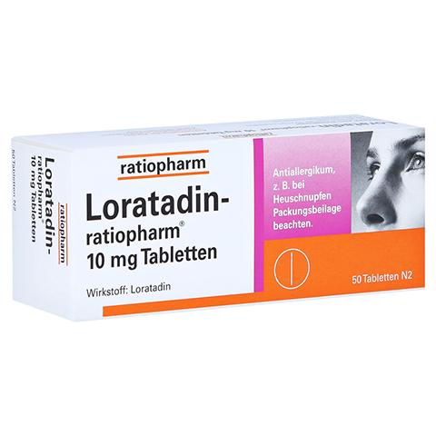 Loratadin-ratiopharm 10mg 50 Stück N2
