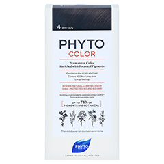 PHYTOCOLOR 4 braun ohne Ammoniak 1 Stück - Vorderseite