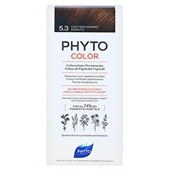 PHYTOCOLOR 5.3 HELLES GOLDBRAUN Pflanzliche Coloration 1 Stück - Rückseite