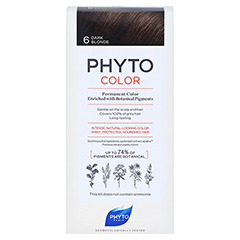 PHYTO Phytocolor Permanente Coloration 6 dunkelblond 1 Stück - Vorderseite