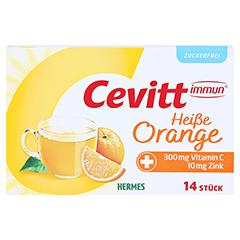 CEVITT immun heiße Orange zuckerfrei Granulat 14 Stück - Vorderseite
