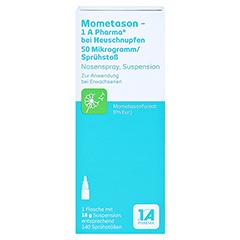 Mometason-1A Pharma bei Heuschnupfen 50µg/Sprühstoß 18 Gramm - Vorderseite