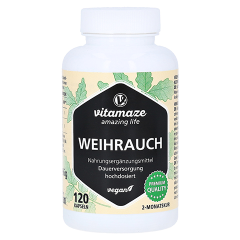 WEIHRAUCH 900 mg hochdosiert vegan Kapseln 120 Stück