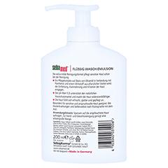 SEBAMED flüssig Waschemulsion m.Olive m.Spender 200 Milliliter - Rückseite