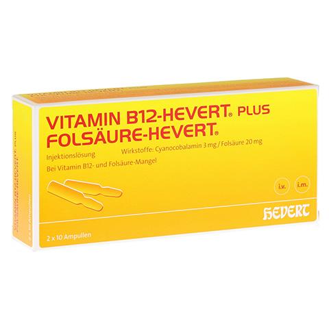 Vitamin B12 Folsäure Hevert Amp.-Paare 2x10 Stück N2