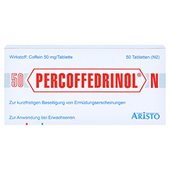 Percoffedrinol N 50mg 50 Stück N2 - Vorderseite