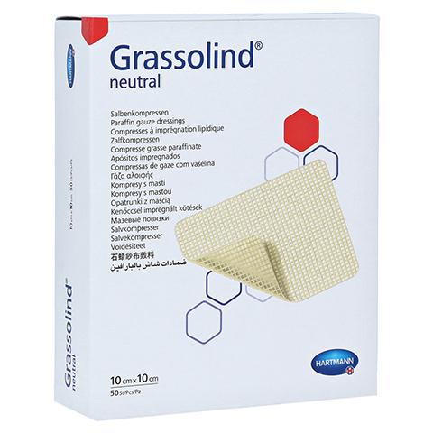 GRASSOLIND Salbenkompressen 10x10 cm steril 50 Stück