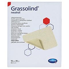 GRASSOLIND Salbenkompressen 10x10 cm steril 50 Stück - Vorderseite