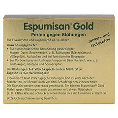 ESPUMISAN Gold Perlen gegen Blähungen 20 Stück - Rückseite