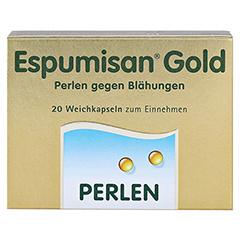 ESPUMISAN Gold Perlen gegen Blähungen 20 Stück - Vorderseite