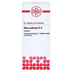 RHUS RADICANS D 4 Tabletten 80 Stück N1 - Vorderseite
