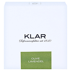 Klar Haarseife & Körperseife Olive/Lavendel 250 Gramm - Vorderseite