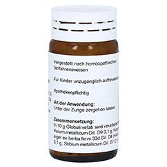 AURUM/STIBIUM/Hyoscyamus Globuli 20 Gramm N1 - Rückseite