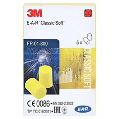 EAR Classic Soft Gehörschutzstöpsel 10 Stück - Vorderseite