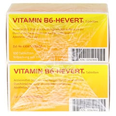 VITAMIN B6 Hevert Tabletten 200 Stück - Unterseite