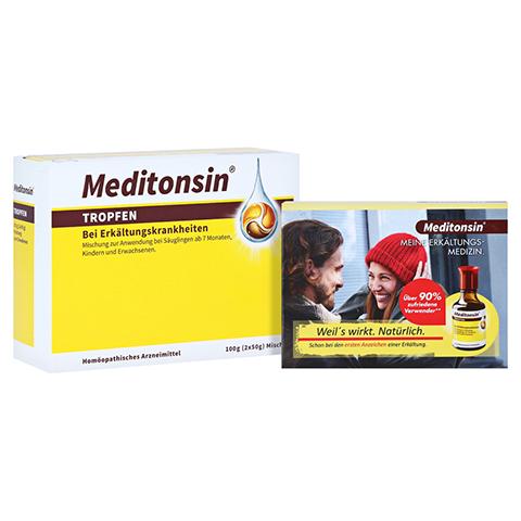 MEDITONSIN Tropfen + gratis Meditonsin Notizblock 2x50 Gramm N2