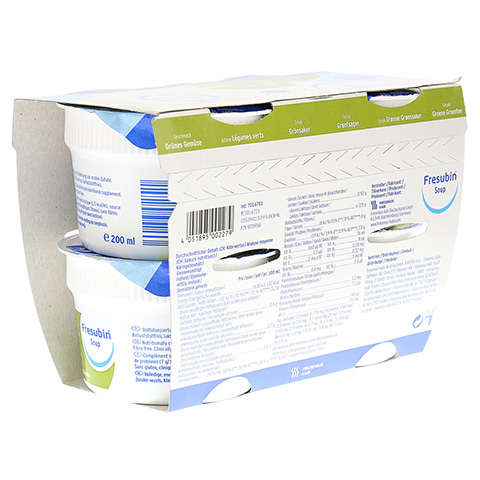 FRESUBIN Soup grünes Gemüse flüssig 4x200 Milliliter
