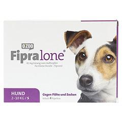 FIPRALONE 67 mg Lsg.z.Auftropf.f.kleine Hunde 4 Stück - Vorderseite