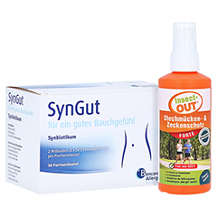 SYNGUT Synbiotikum m.Probiotika u.Prebiot.Beutel + gratis insect out 30 Stück