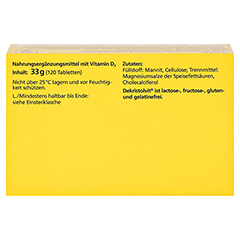 Dekristolvit D3 2.000 I.E. Tabletten 120 Stück - Oberseite