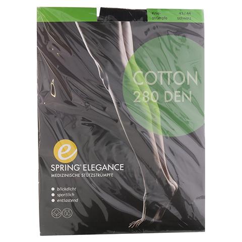 SPRING ELEGANCE Cotton 280den AD 43/44 schwarz 2 Stück